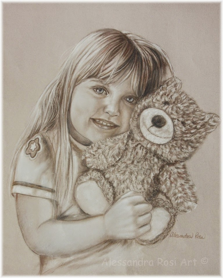 Custom Child Portrait, Family Portraits in Sepia