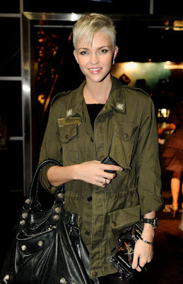 Ruby Rose Buzz Haircut - New Celebrity Cute Short Hairstyles