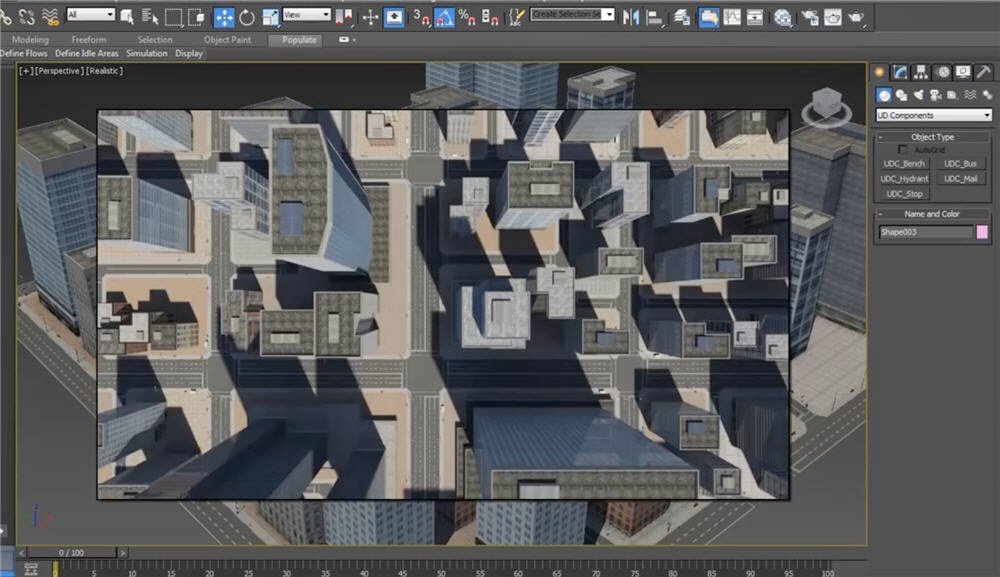 Creating cityscapes in 3dsmax cg tutorial 3dsmax this tutorial shows you how to build tileable city blocks that include road works street elements and low poly buildings to create small and malvernweather Choice Image