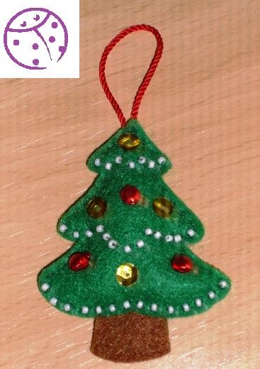 Chincheteando arbol de navidad en fieltro - Arbol de fieltro ...