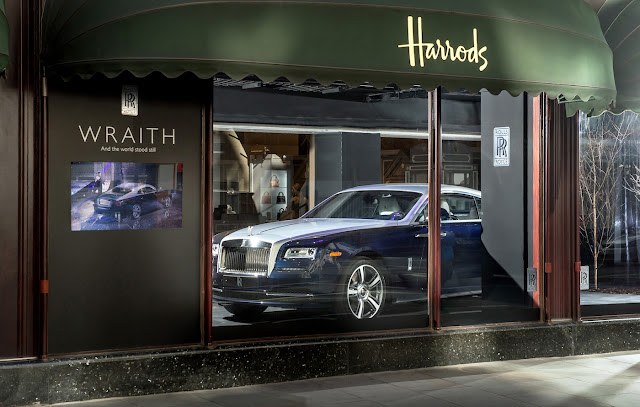 Rolls-Royce Wraith Debuts in UK in a Harrods Window