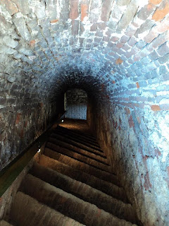 Alba Carolina Fortress Bastion St-Eugene-stone steps leading to artillery platform
