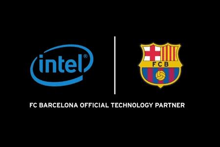 Logo Intel di Seragam Bagian Dalam FC Barcelona