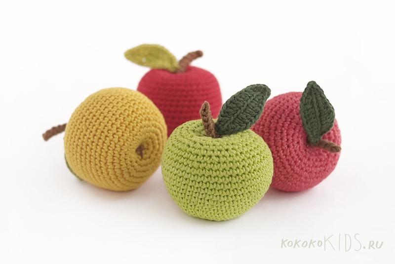 Вязание яблоко крючком