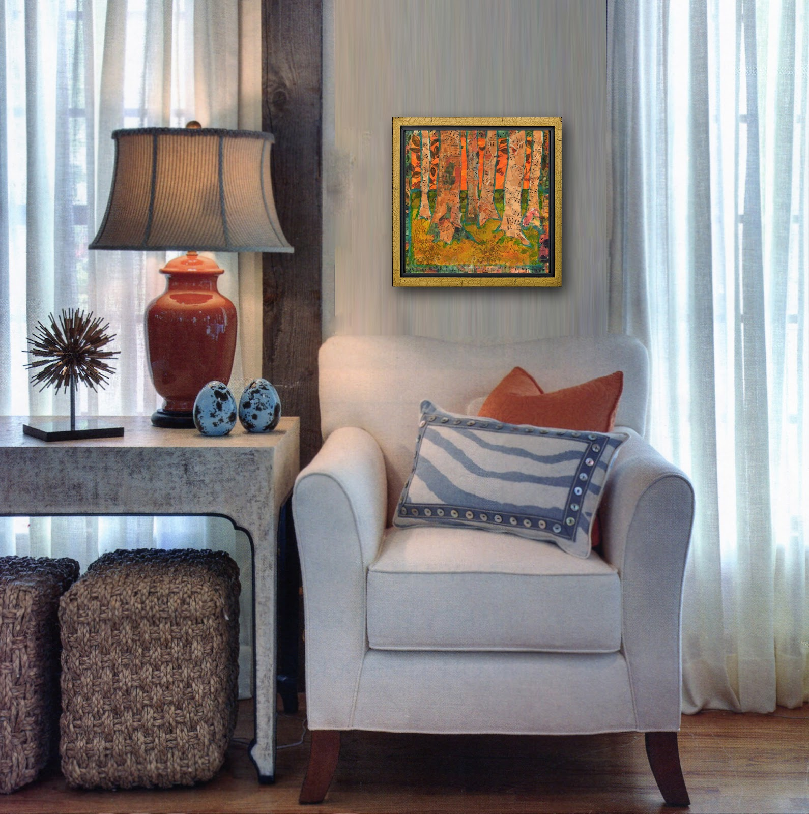 Art Blog For The Inspiration Place Touches Of Tangerine Tango