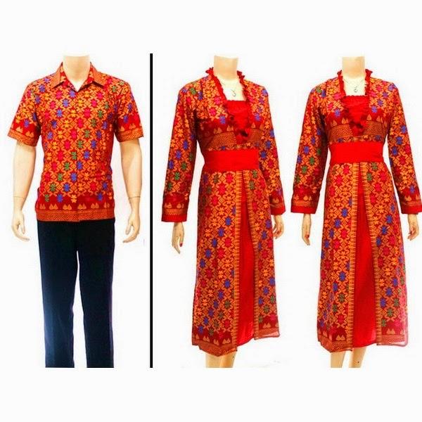 Baju Batik Couple Muslim Motif Prada Bali