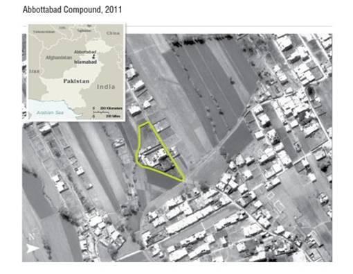Foto Tempat Persembunyian Dimana Pemimpin Teroris Al-Qaeda Osama Bin Laden Tewas