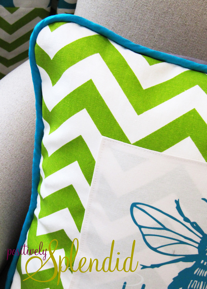 How To Make A Throw Pillow With Piping : How to Make and Insert Custom Piping