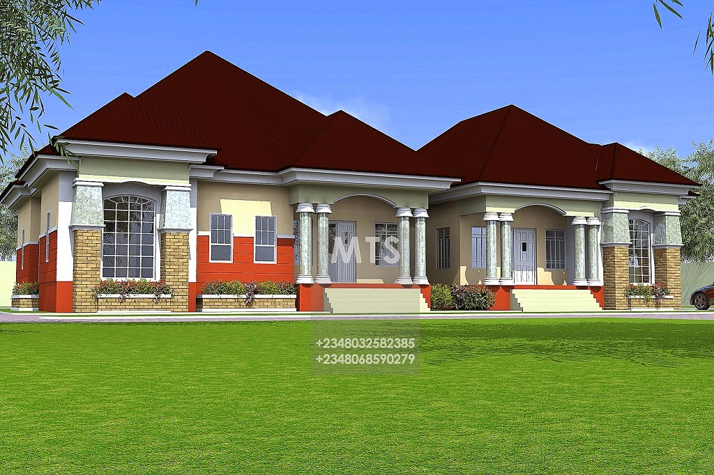 Mr tunde 2 3 bedroom semi detached bungalow Twin bungalow plans