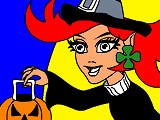 Bruxinha do Halloween