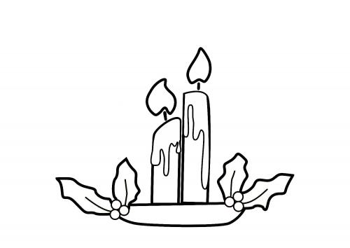 Desenho como desenhar meias e velas de natal pintar e colorir