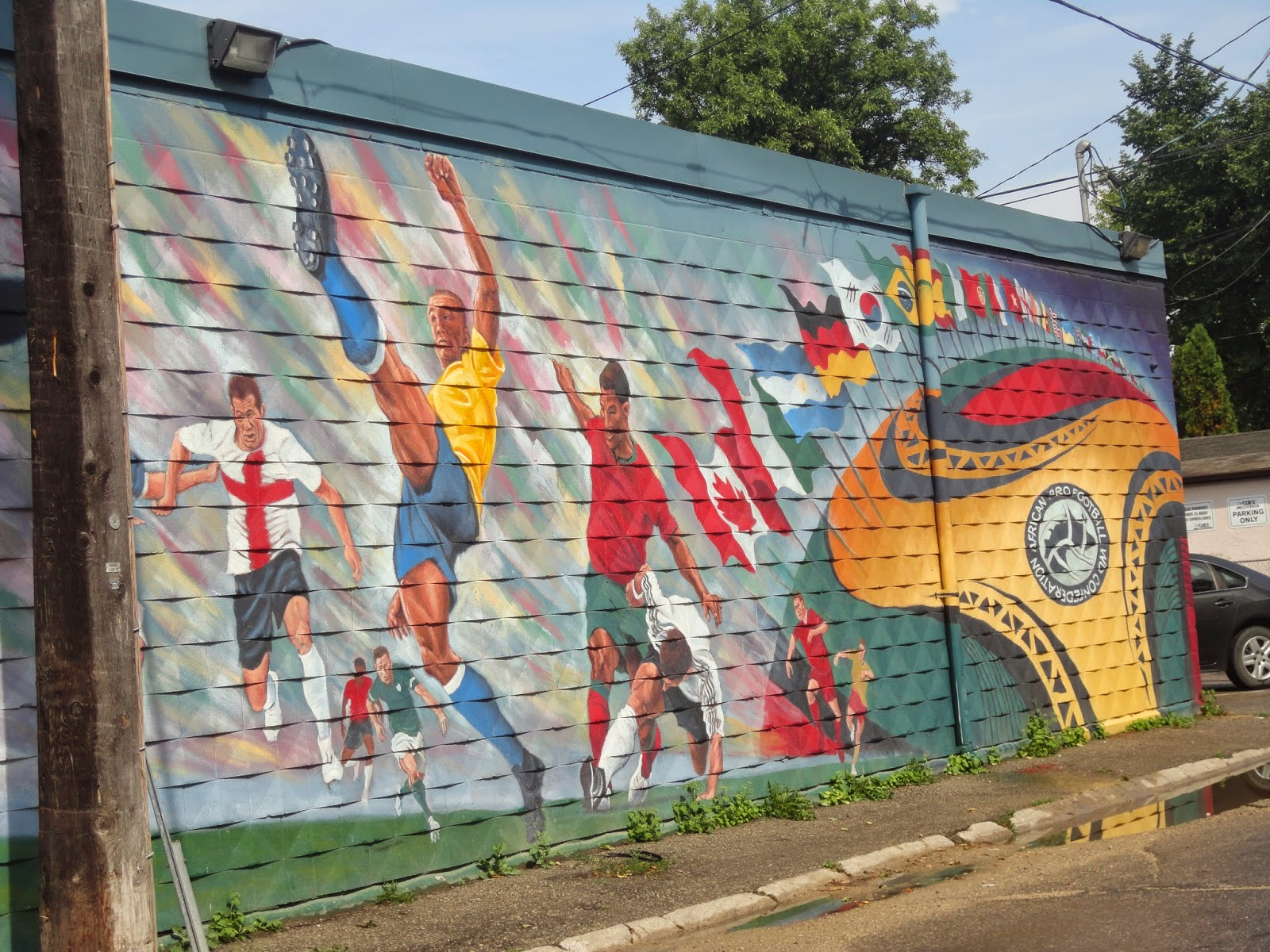 """World Cup Soccer: The Real League of Nations"" by Charlie Johnston (2009) - X-Cues Billiards and Cafe at 551 Sargent Avenue"