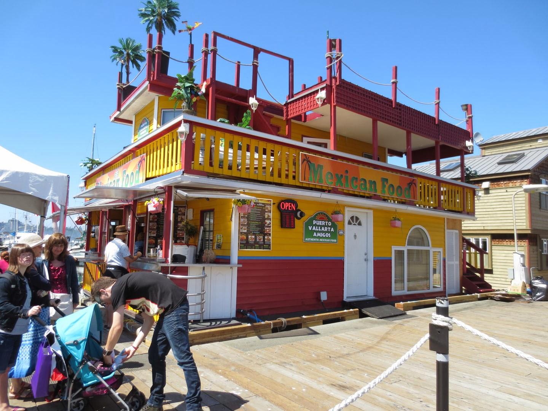 Mexican restaurant, fisherman's wharf, victoria, bc