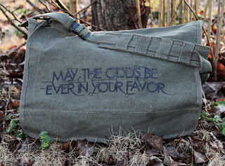 hunger games messenger bag etsy odds be ever in your favor