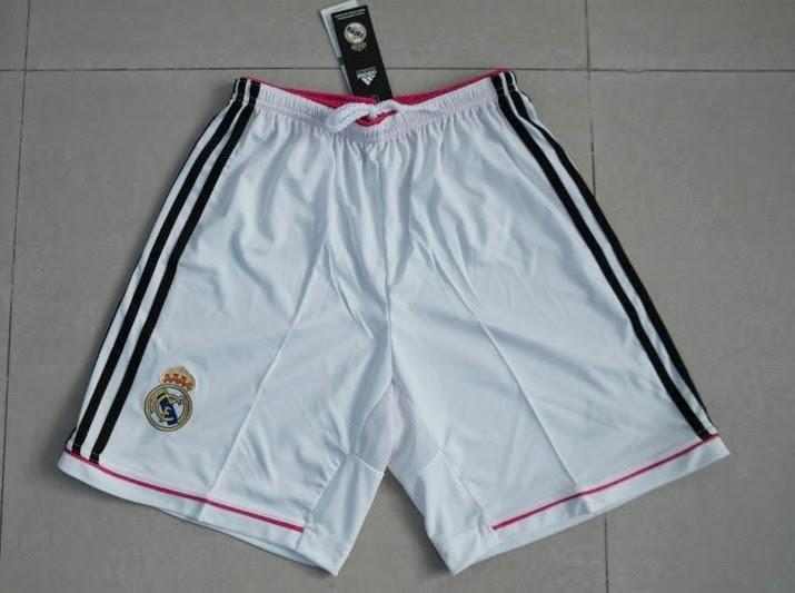 Celana Bola Real Madrid Home Grade Ori 2015 Putih