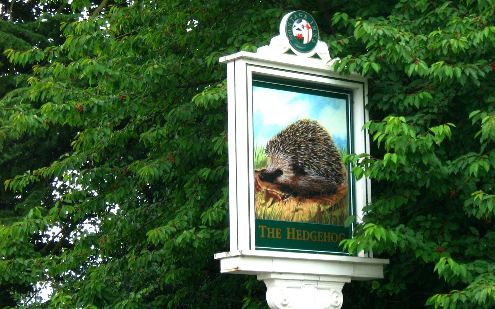 Hedgehog Pub sign