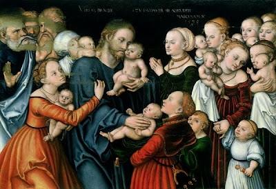 Suffer the little children to come unto me 1538 xx lucas the elder