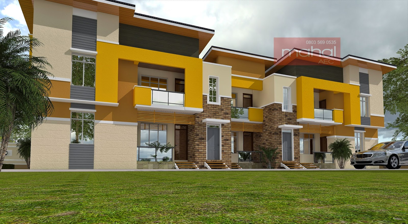 Contemporary nigerian residential architecture - Architecture plans of bedroom flat ...