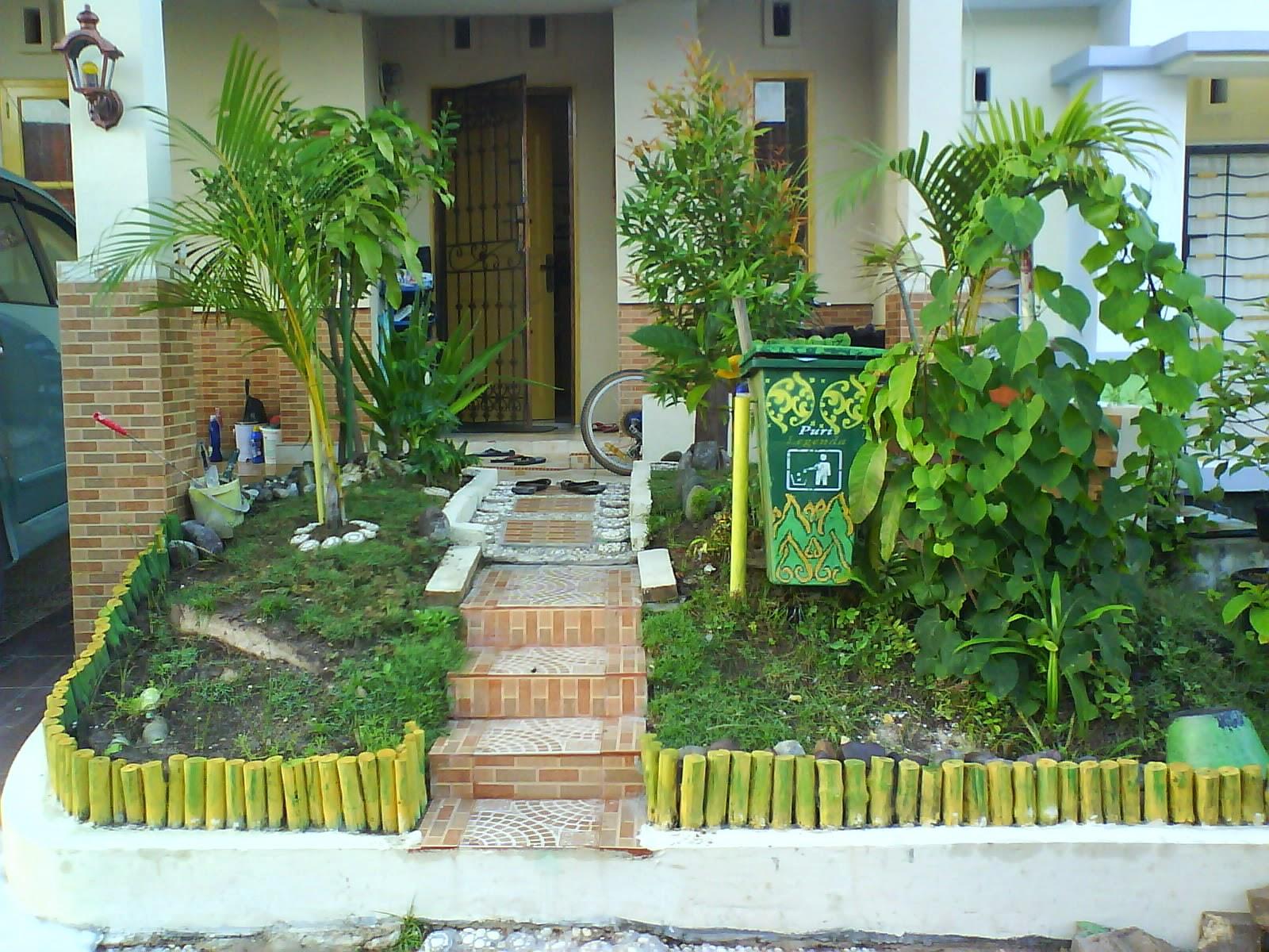 desain taman kecil depan rumah minimalis