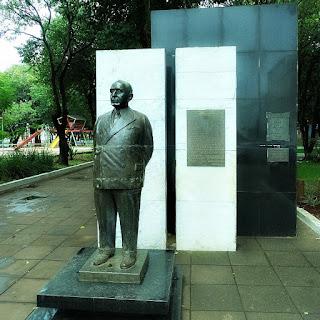 Estátua do ex-presidente Getúlio Vargas, na Praça XV de Novembro, em São Borja.