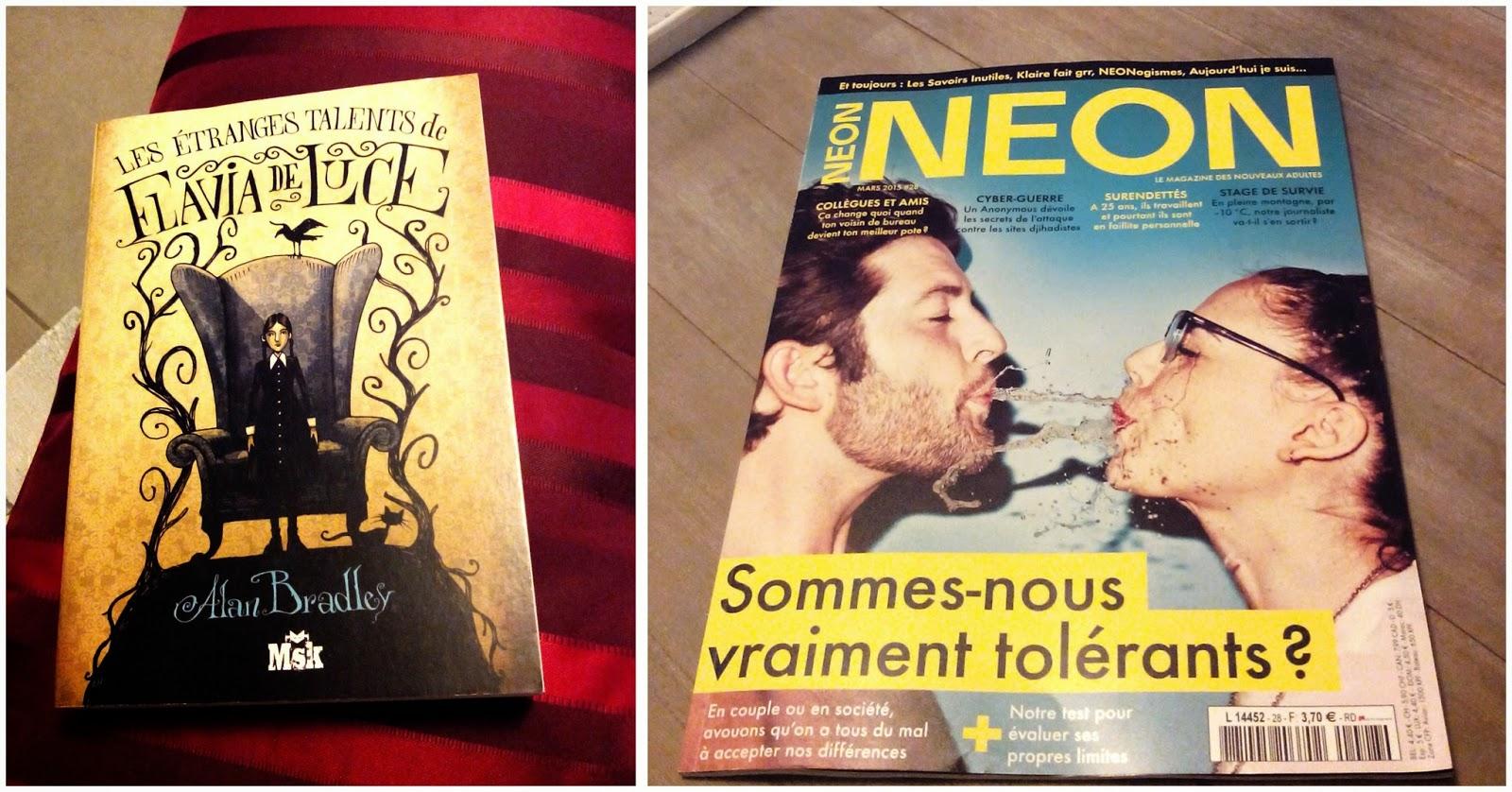 roman, flavia de luce, magazine, neon, bullelodie