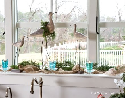 coastal Christmas kitchen