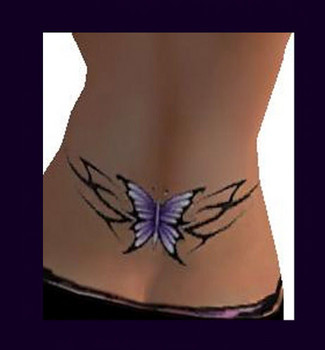 Butterfly Tattoos On Lower Back