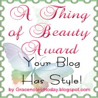 A Thing of Beauty, blog award by Grace Baxter