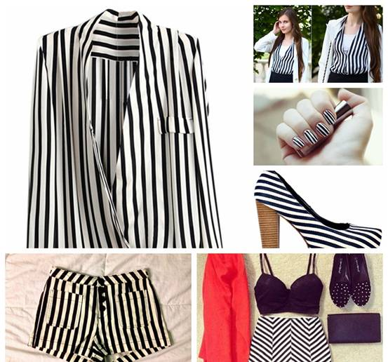 romwe, street style, White And Black Strips Shirt