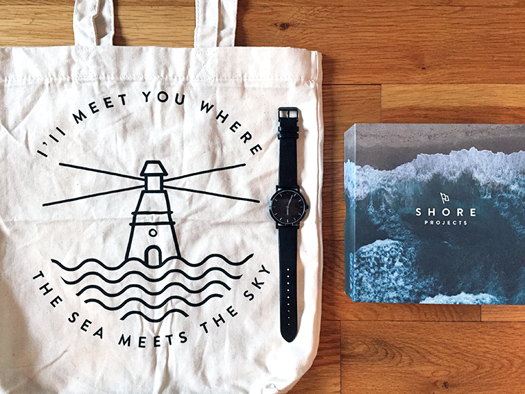 Shore Projects watch, Nordstrom, Bloomingdale's, I'll meet you where the sea meets the sky, gift box set