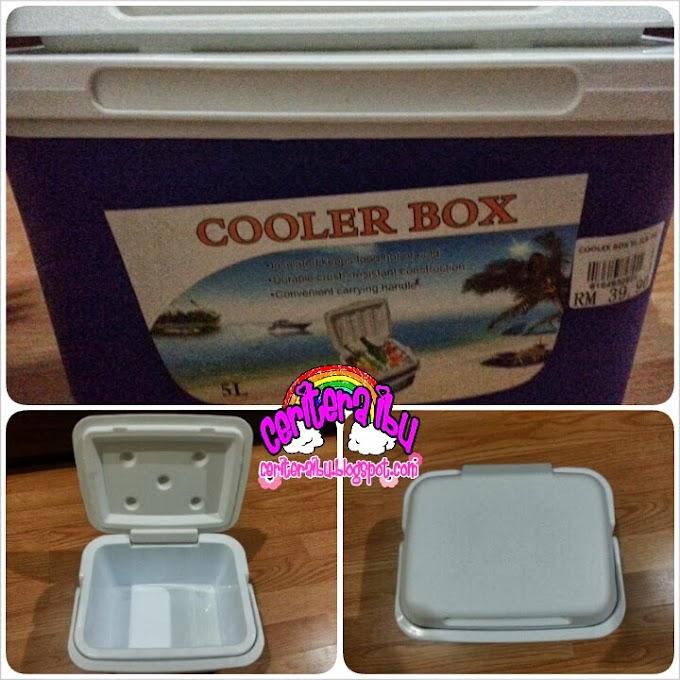 Cooler box baru untuk adik faris