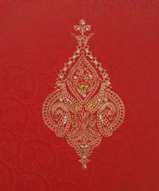 Jeweled wedding invitations