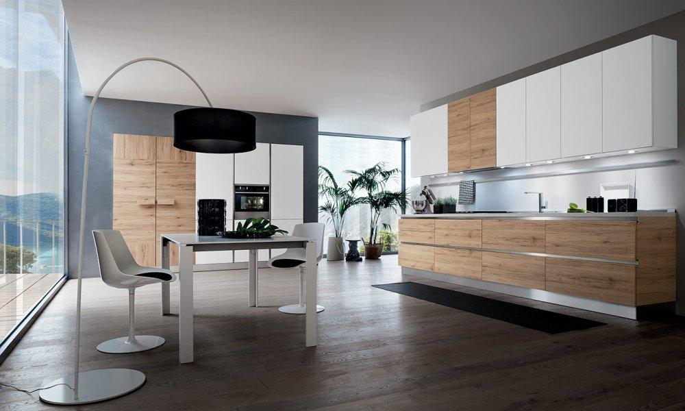 Beautiful Cuisine Blanche Et Bois Photos  Design Trends