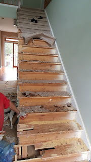 Staircase Treads, Posts, Railings n Balusters Renovation - Piscataway, NJ (2)
