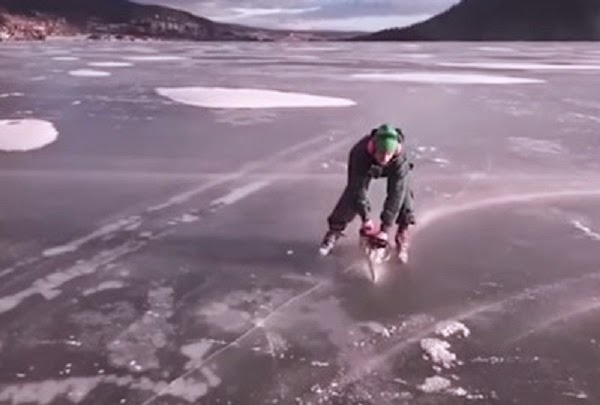 Chainsaw Ice Skating Is A Thing Now… And It Doesn't Look Dangerous AT ALL.