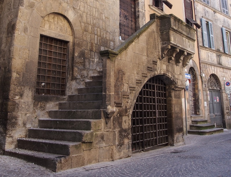 Italy the Profferli of Viterbo the most interesting staircases