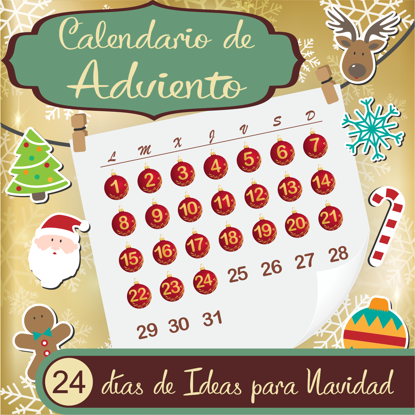 Diy calendario de adviento diy magn tico y reciclado for Calendario manualidades