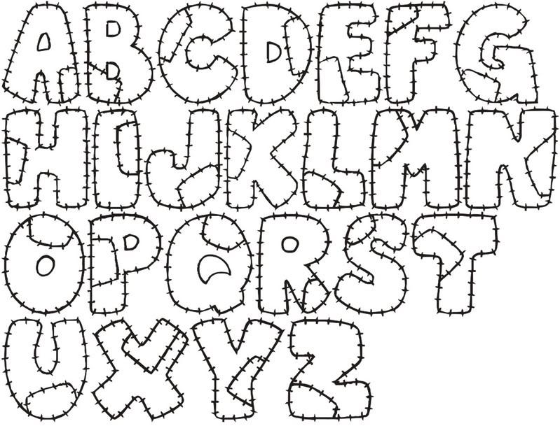 y tipos de letra para hacer graffiti: