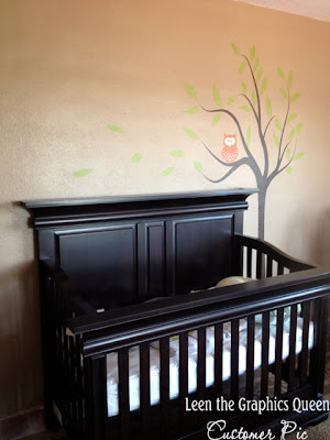 owl tree nursery wall decal
