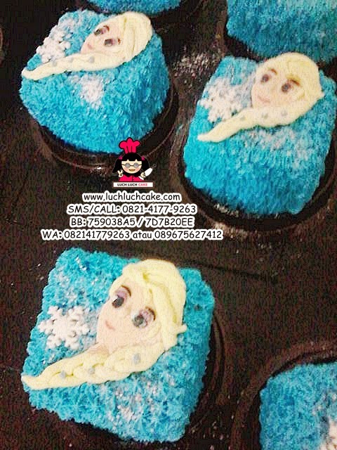 mini cake souvenir ultah frozen elsa daerah surabaya - sidoarjo