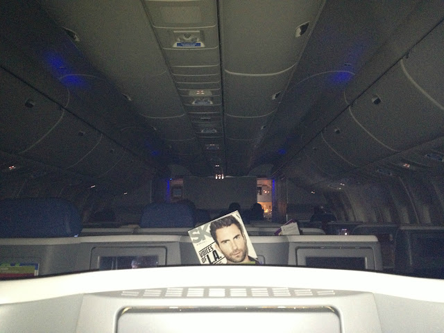 Business Class Cabin Delta from Atlanta to Lagos, Nigeria, West Africa