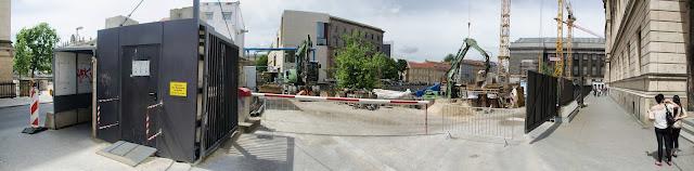 Baustelle Empfangsgebäude für die Museumsinsel, James-Simon-Galerie, Pergamon Museum, Am Kupfergraben, Bodestraße 1-3, 10178 Berlin, 02.06.2015