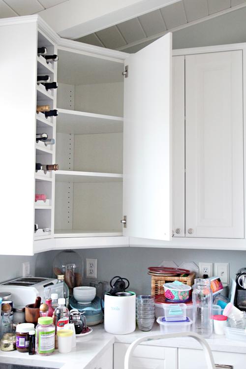 IHeart Organizing: Organized Kitchen Corner Cabinet with a DIY ...