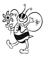 Spring Bee Kids Coloring Pages Printable