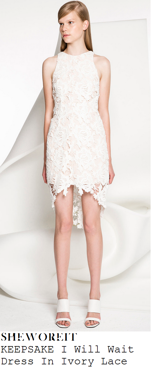 laura-whitmore- white-lace-sleeveless-bodycon-sheer-hem-dress-get-me-out-of-here-now
