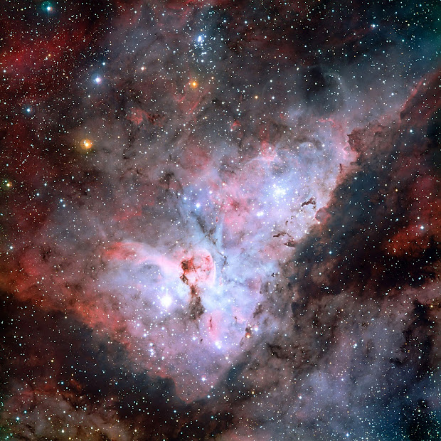 ESO's picture of the Carina Nebula reveals exquisite details!