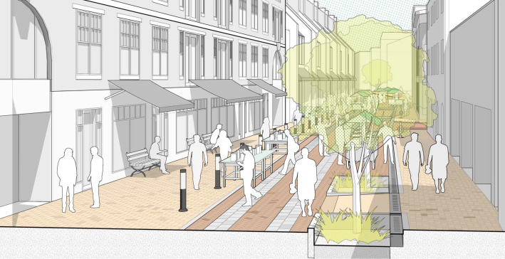 Pedestrian Mall Plan Images Galleries With A Bite