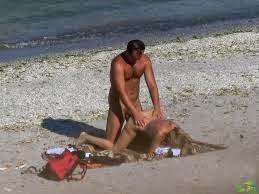 Caught having sex on beach