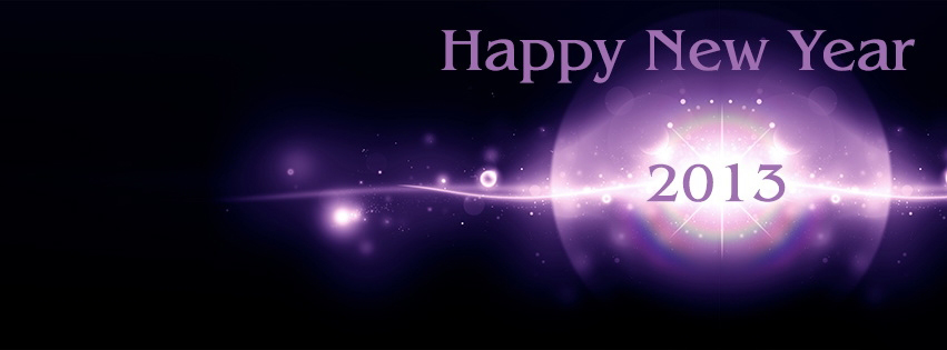 Purple Happy New Yaer