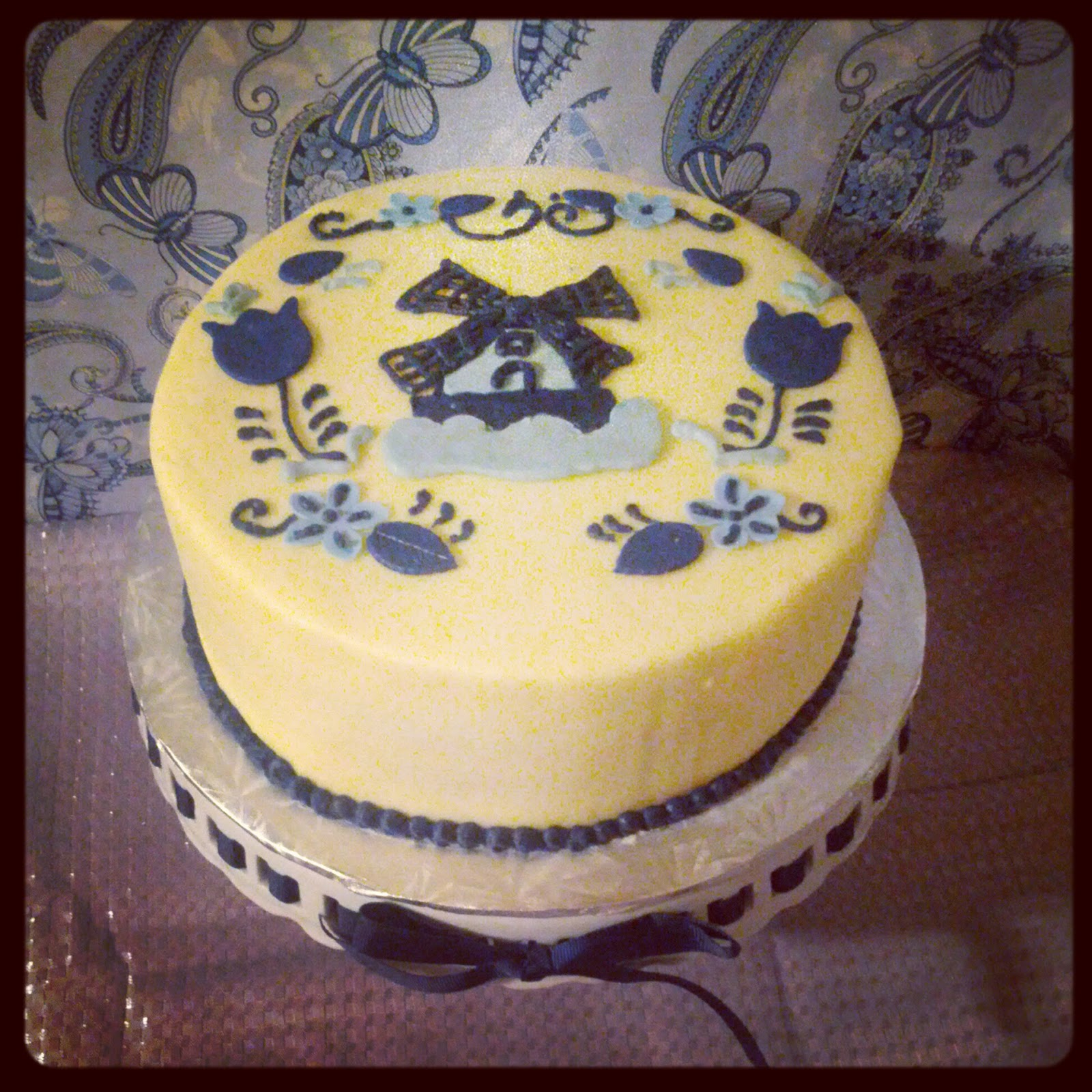 Second Generation Cake Design Delft Blue Birthday Cake